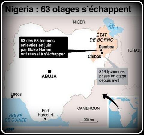 voir le zoom : Carte de localisation de Damboa où 68 femmes avaient été enlevées par Boko Haram et dont 63 ont réussi à échapper à leurs ravisseurs