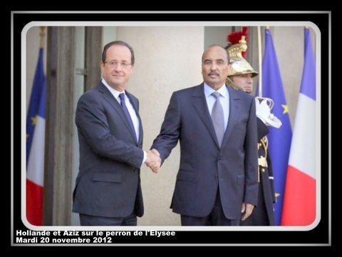 voir le zoom : Le président François Hollande et son homologue mauritanien Mohamed Ould Abdel Aziz, le 20 novembre 2012 à l'Elysée
