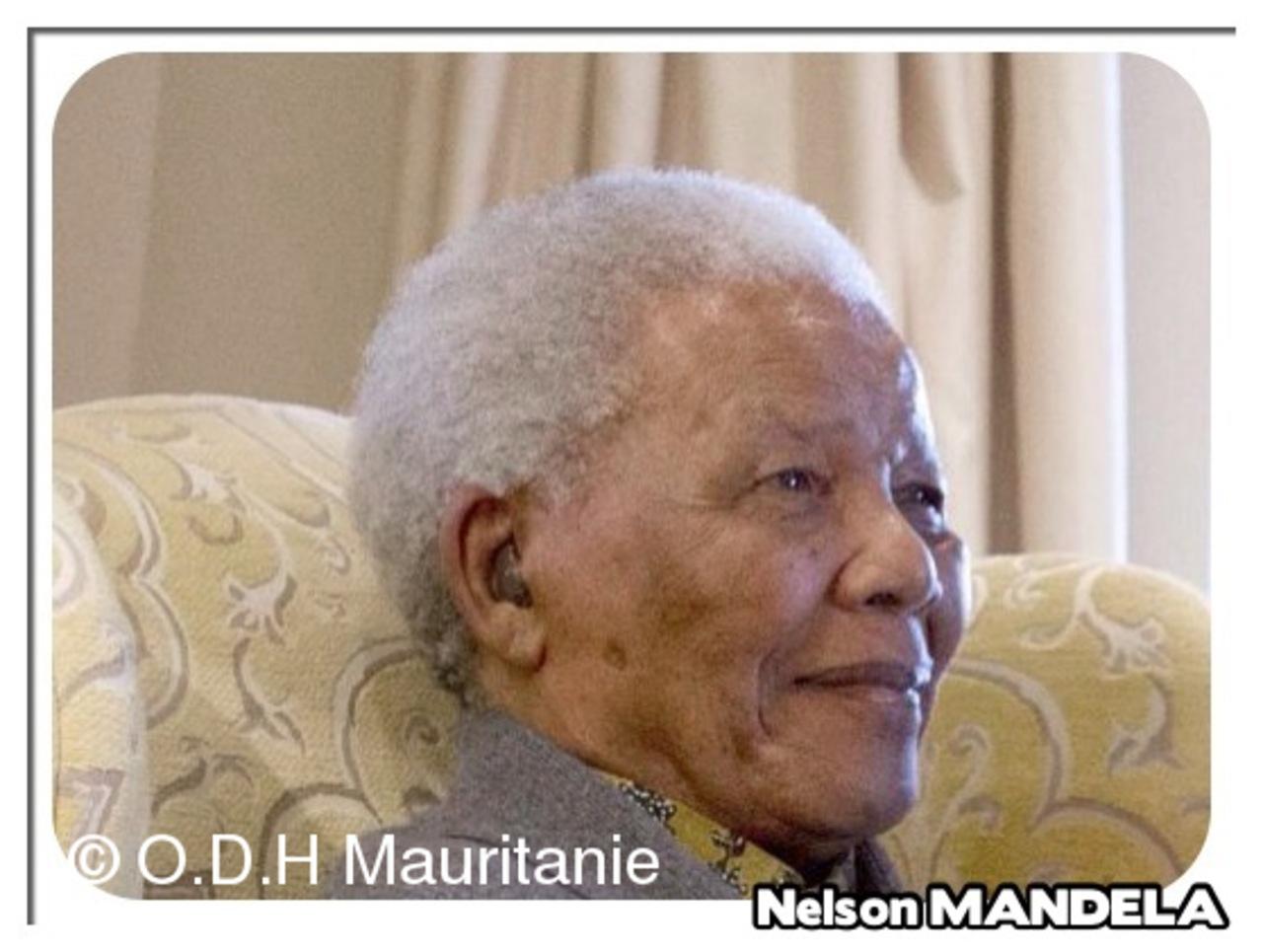 voir le zoom : Nelson Mandela à Sandton, le 17 juin 2010