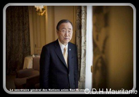 voir le zoom : Le secrétaire général des Nations unies Ban Ki-moon pose le 9 octobre 2012 à Paris