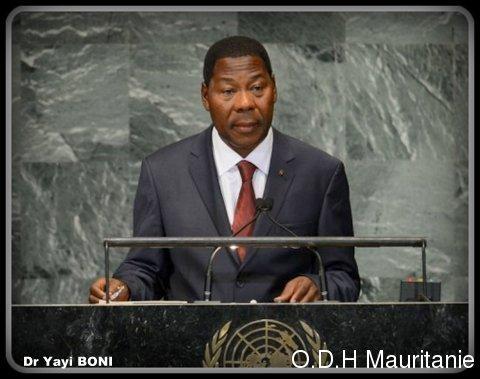 voir le zoom : Le chef de l'Etat béninois, Boni Yayi, le 25 septembre 2012 à New York