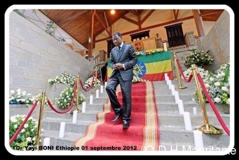 voir le zoom : Le président béninois Boni Yayi, le 1er septembre 2012 à Addis-Abeba en Ethiopie