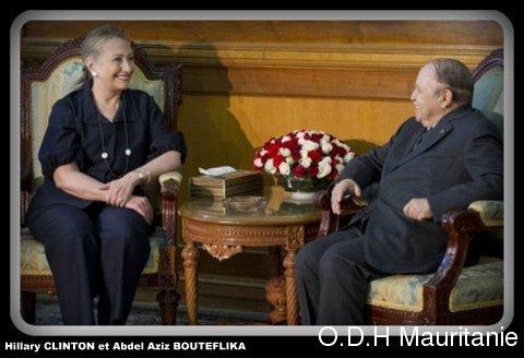 voir le zoom : Hillary Clinton et le président algérien Abdelaziz Bouteflika, le 29 octobre 2012 à Alger