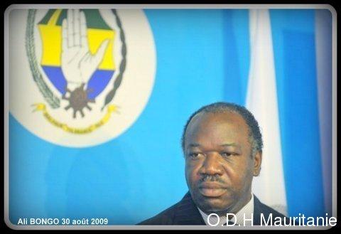 voir le zoom : Ali Bongo lors d'un discours officiel à Libreville, le 31 août 2009